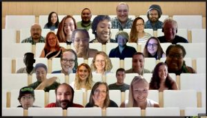 new faculty faces in a Teams classroom view