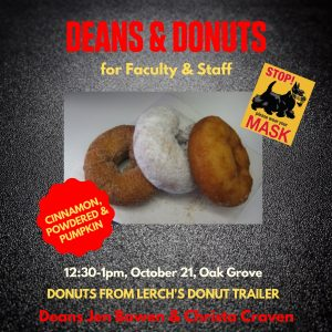 ad for deans & donuts event